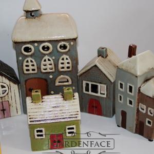 keramické domečky na čajovou svíčku