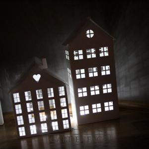 plechové domečky na svíčku