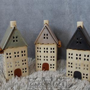 Keramické domečky / lucerny na čajovou svíčku