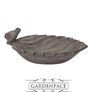 ptačí pítko/koupel pro ptáčky - list s ptáčkem