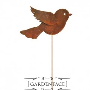 kovový zápich ptáček malý