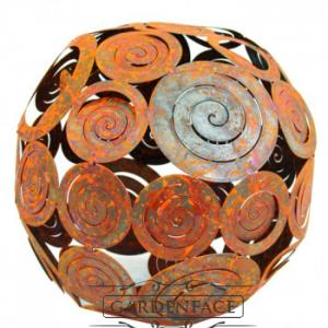 kovová koule střední - spirály patina