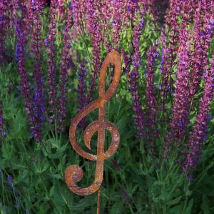 kovový zápich houslový klíč