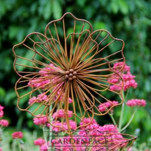 kovový zápich květina - kulaté okvětní plátky