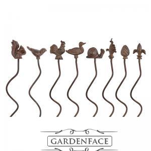 opora květin/zápich spirála - veverka