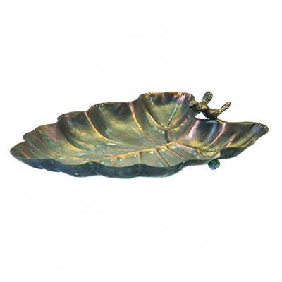 kovové ptačí pítko/koupel pro ptáčky list
