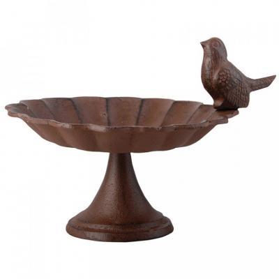 litinové ptačí pítko/koupel na noze