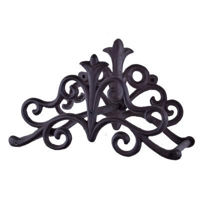 zahradní litinový držák na hadici - ornament