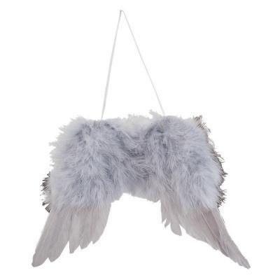 andělská křídla z peříček - závěsná ozdoba 23x17 cm