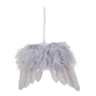 andělská křídla z peříček - závěsná ozdoba 16x12 cm