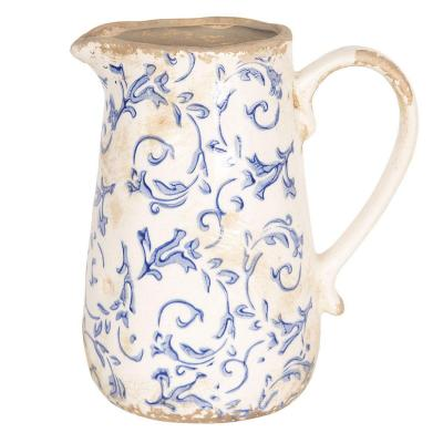 Keramický džbán  bílá/modrá