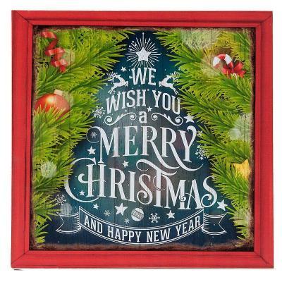 Vánoční obrázek/cedule 30x30