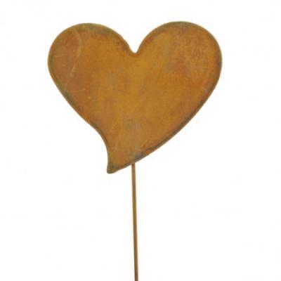 kovový zápich srdce velké