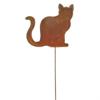 "kovový zápich ""sedící kočka"" malá"