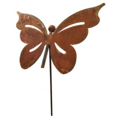 kovový zápich motýl velký