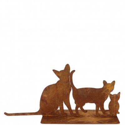 kovová dekorace kočičí rodinka