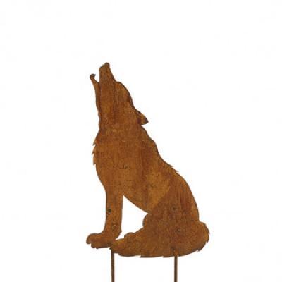 kovový zapich vlk malý