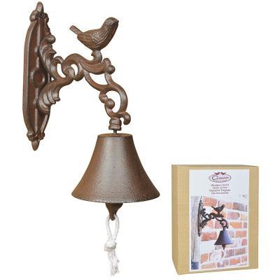 venkovní litinový zvon s ptáčkem