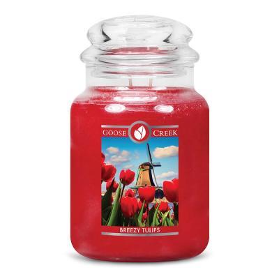 vonná svíčka GOOSE CREEK  Breezy Tulips 680g
