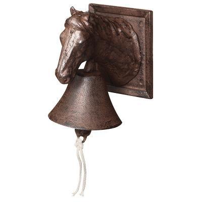 venkovní litinový zvon - kůň