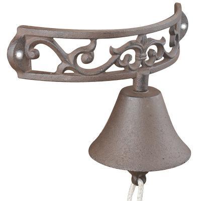 litinový zvonek na zeď půlkruh