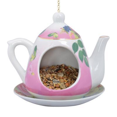 krmítko čajová konvička růžová