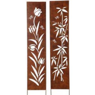 kovový zápich panel s tulipány