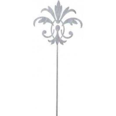 kovový zápich lilie šedá 130cm