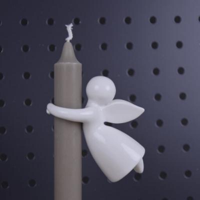 keramický andílek na svíčku