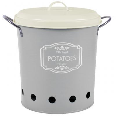 dóza na brambory šedá