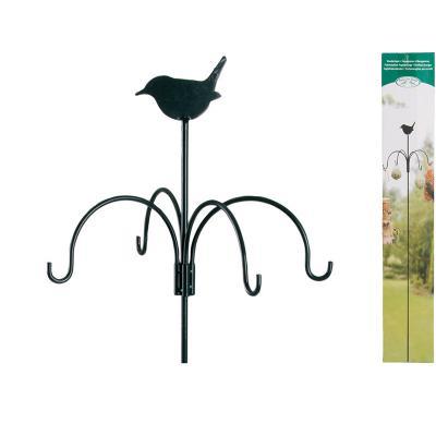 držák/krmítko na lojové koule s ptáčkem