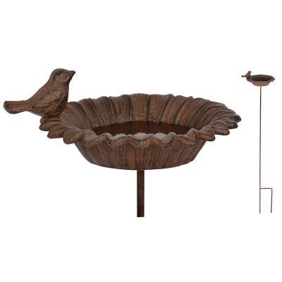 litinové pítko/krmítko pro ptáky - zápich