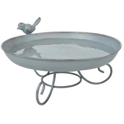 kovové ptačí pítko / koupel pro ptáčky