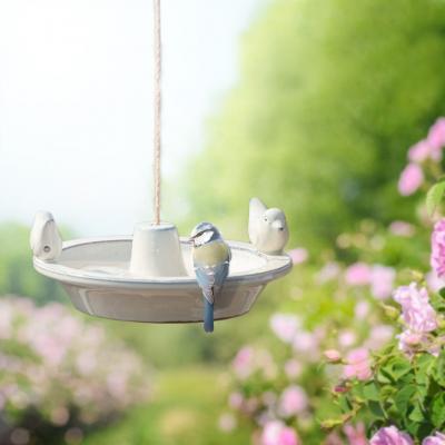 Koupel pro ptáčky/pítko závěsné bílé