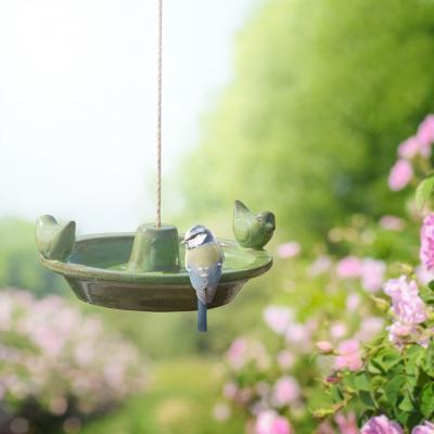 Koupel pro ptáčky/pítko závěsné zelené