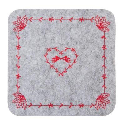 Filcové vánoční prostírání pod talíř 25x25 cm
