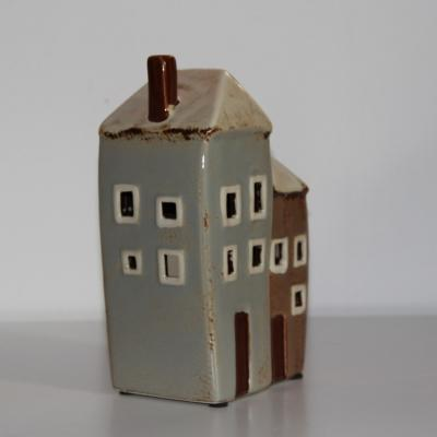 keramický dvojdomek na svíčku buclatý