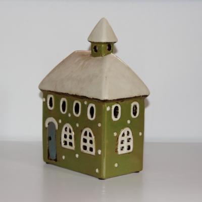 keramický kotelíček na svíčku - zelený