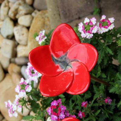 zápich keramická květina velká - glazura