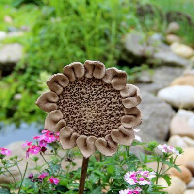 zápich keramická slunečnice velká