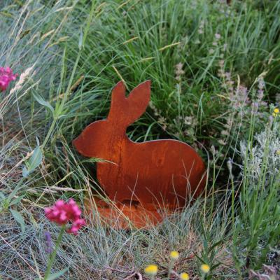 kovová dekorace králík