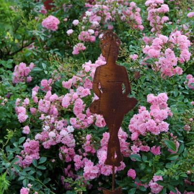 zahradní kovový zápich baletka velká