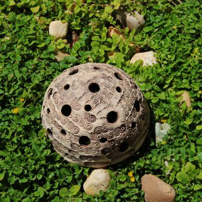 """keramická zahradní lucerna """"spirály"""""""