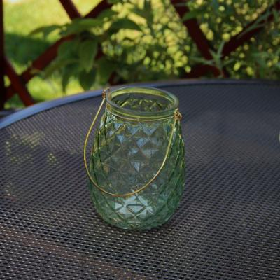 skleněná lucerna zelená
