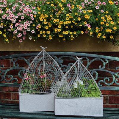 set květníků s poklopem ptáčci