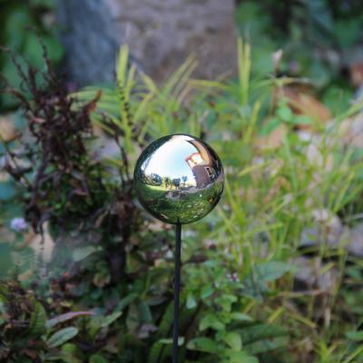zahradní zápich nerezová koule 15cm