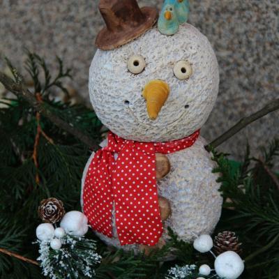 keramický sněhulák morkusovic