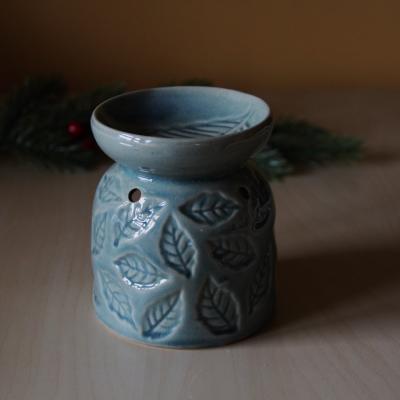 aromalampa dekor listu modrá