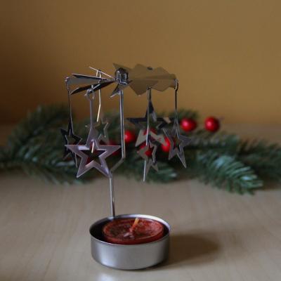 kovové andělské zvonění na čajovou svíčku