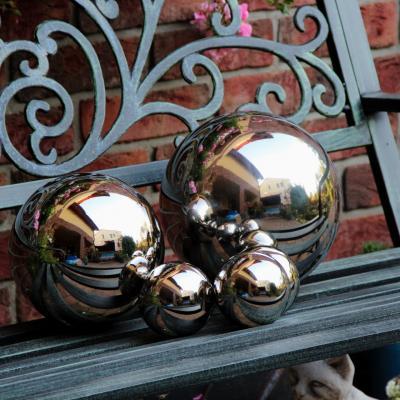 zahradní dekorace nerezová koule 20cm